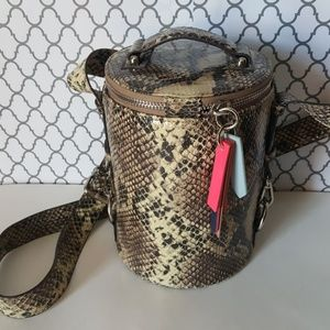 Urban Outfitters Snakeskin Cylinder Bucket Purse